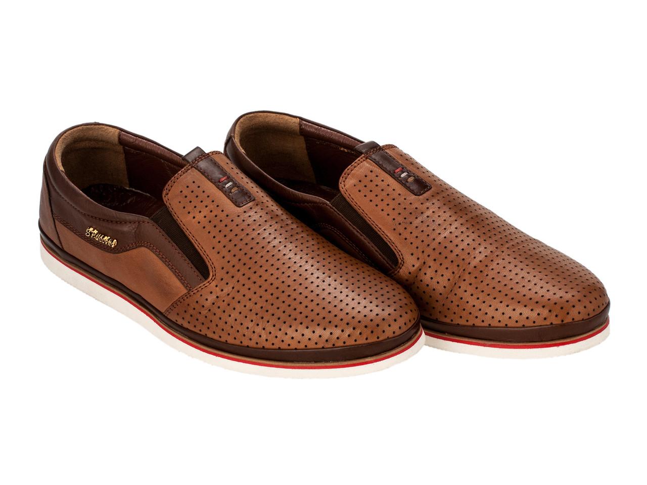 Мокасины Etor 13254-2516 коричневые