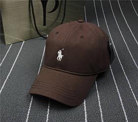 Кепка реплика Polo коричневая