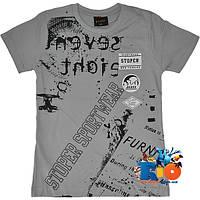 """Летняя футболка с ярким принтом """"Sport Wear"""" , трикотаж , для мальчиков (рост 140-176 см) (4 ед. в уп.)"""