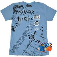 """Детская футболка с ярким принтом """"Sport Wear"""" , трикотаж , для мальчиков (рост 140-176 см) (4 ед. в уп.)"""