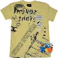 """Детская футболка """"Sport Wear"""" , трикотаж , принт , для мальчика (рост 140-176 см) (4 ед. в уп.)"""