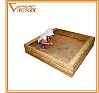 Деревянная детская песочница