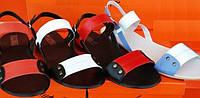 Босоножки женские кожаные на плоской подошве, летние босоножки от производителя модель ЛА78