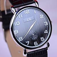 Часы наручные CK Calvin Klein в стальном цвете, черный циферблат, фото 1