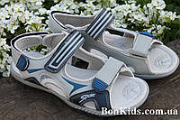 Подростковые сандалии на мальчика босоножки серого цвета тм Tom.m р.37