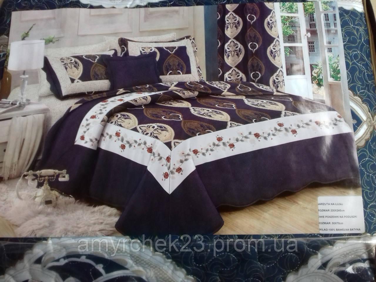 Покрывало на кровать с наволочками евро размер стеганое разные расцветки 8a183cac8a9b2
