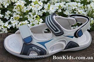 Подростковые сандалии на мальчика босоножки серого цвета тм Tom.m р.37, фото 2