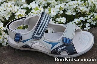 Подростковые сандалии на мальчика босоножки серого цвета тм Tom.m р.37, фото 3