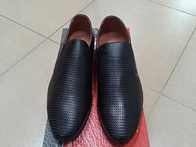 Мужские летние туфли из натуральной кожи МИДА 13270 черные  продажа ... add1db11c26