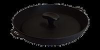 Чугунная сковородка с крышкой 340х40 мм
