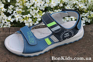 Детские босоножки на мальчика сандалии с салатовыми полосками тм Тoмм р. 37, фото 2