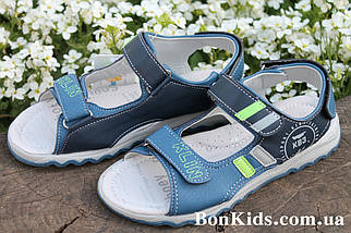 Детские босоножки на мальчика сандалии с салатовыми полосками тм Тoмм р. 37, фото 3