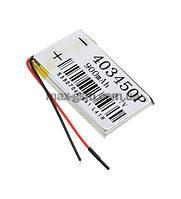 Аккумулятор Universal (Li-ion, 3.7V) 403450P size: 50x34x5mm. (900mAh)