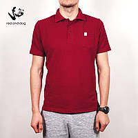 Мужская футболка поло летняя Red and Dog - King Pocket-Bordo