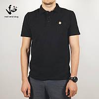 Летняя футболка поло мужская Red and Dog - King Pocket - Black