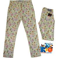 """Стильные детские брюки """"Flowers In Summer"""" , коттон , для девочек от 9-12 лет (4 ед. в уп.)"""