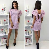 Платье с крылышками и полуоткрытой спиной 0042 (НБН)