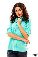 Блуза с рукавом до локтя, цвета фиолетовый, салатовый, электрик, голубая, желтая  все размеры, другие цвета