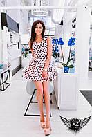Коротенькое платье с поясом и принтом, цвета ментоловое, все размеры и другие цвета