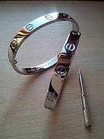 Браслет Cartier Love серебро 18 см