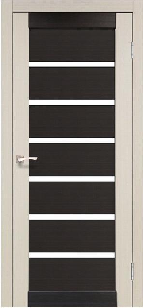 Двери Korfad PC-02 Дуб беленый/ Венге