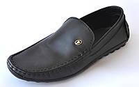 Кожаные мокасины мужские больших размеров кожаные Rosso Avangard. BS Alberto M5 Black Leather