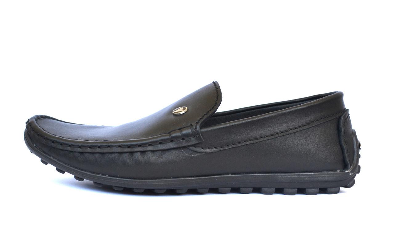Обувь подростковая на мальчика модные мокасины кожаные черные Rosso Avangard Alberto mS Black Leather