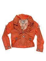 Жакет оранжевый для девочки