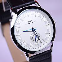 Часы наручные CK Calvin Klein в стальном цвете,белый циферблат, фото 1