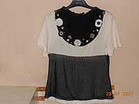 Кофта с черной сеткой и украшениями Bagutti, фото 1