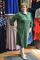 Платье-рубашка зеленого цвета