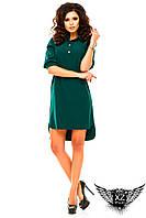 Платье-рубашка до колен и короткий рукав большого размера, цвета тёмно-зеленое, малиновое, другие цвета