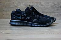 Беговые кроссовки Nike Free Run Plus 2 black. Живое фото. (найк фри ран)