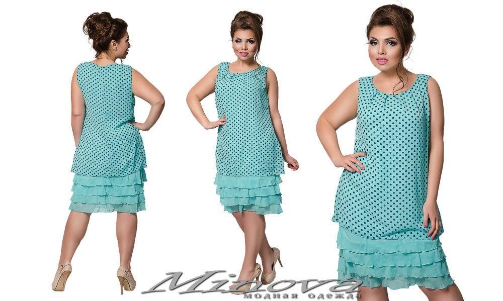 0757891e8368d9e Женское шифоновое платье, размер 48,50,52,54. В наличии 2 цвета ...