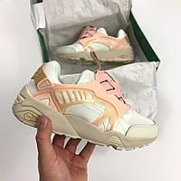 Кроссовки Puma Disk white pink new. Живое фото. Топ качество! (пума диск)