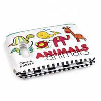 Игрушка-книжка Canpol Babies с пищалкой Цветные зверюшки