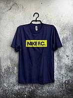 """Футболка мужская Nike """"F.C."""" (темно-синяя)"""