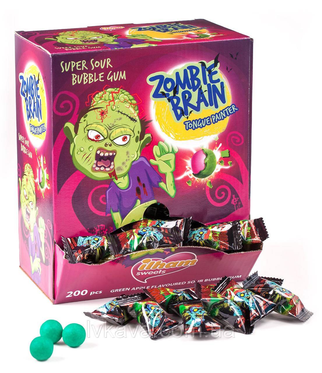 Жевательная резинка  Zombie Brain (красит язык)  ILHAM SWEETS, 3,5 гр х 200 шт