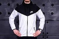 Виндранер, ветровка, куртка весенняя, осенняя! Windrunner Nike Черный+белый