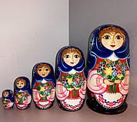 """Матрьошка """"Українська дівчинка у вишиванці""""17,5см"""