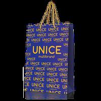 Подарочный пакет Unice синий 24х14х10 см (3346001)