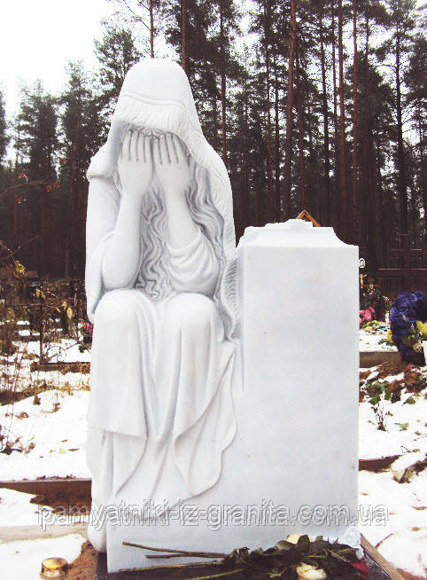 Скульптура ангела из мрамора № 32