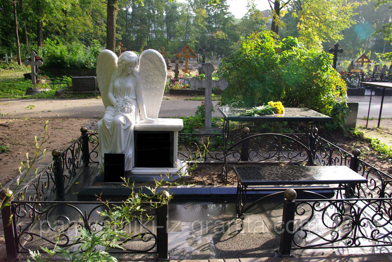 Скульптура ангела из мрамора № 33