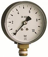 """Манометр Afriso RF для санитарных отопительных систем 1/2"""" радиальное, Ø100 класс точности 1.6, 0-10 бар"""
