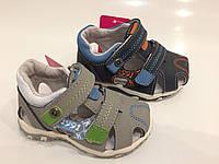 Детские кожаные закрытые сандалии для мальчиков оптом Размеры 21-26