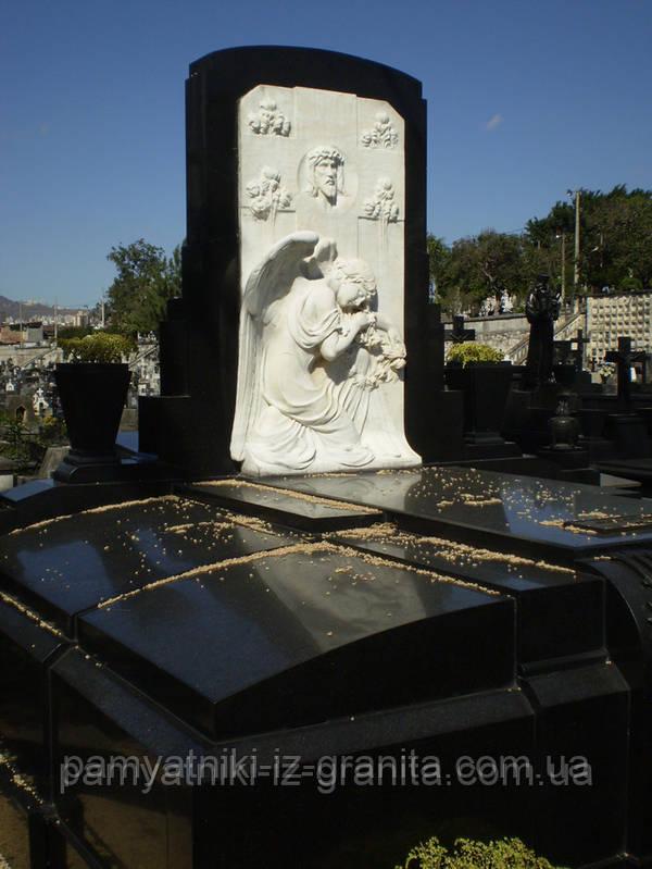 Скульптура барельеф Иисуса и ангела из мрамора № 37