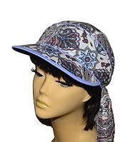 Бандана  платок Огурцы Голубые   женская   стильная, модная, летняя, красивая  из хлопка