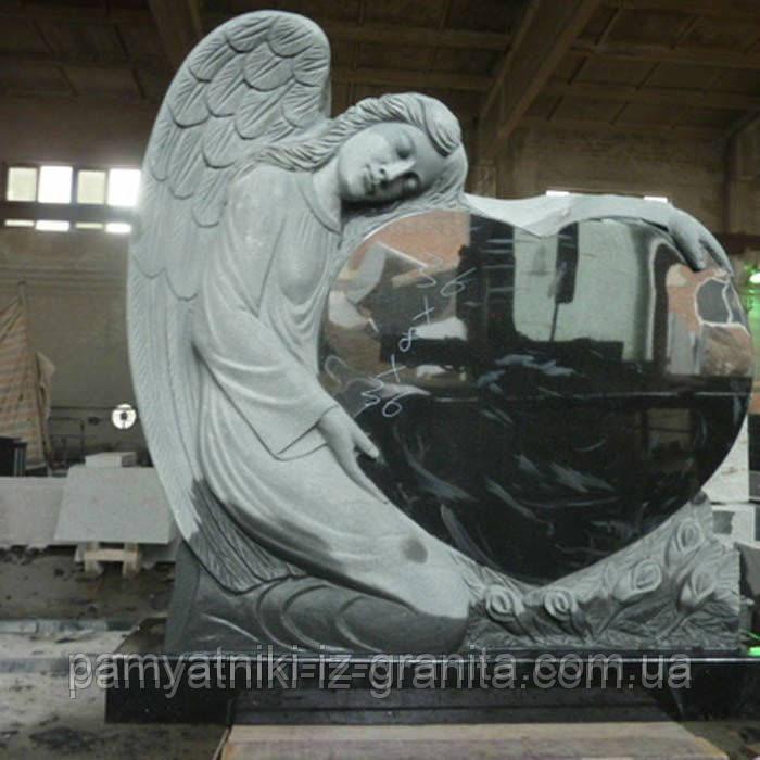 Скульптура ангела из гранита № 44
