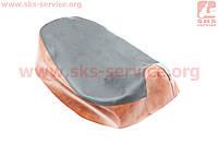 Чехол сидения Honda DIO AF18 (эластичный, прочный материал) черный/коричневый