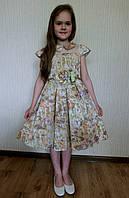 Нарядное платье на праздник. Размеры:  лет 6, 7, 8, 9, 10